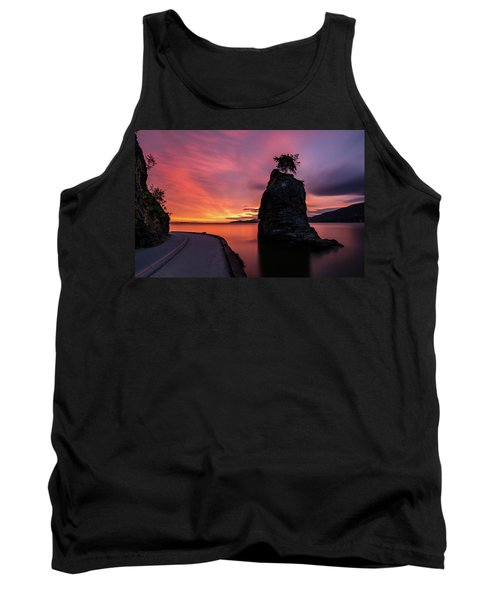 Tank Top featuring the photograph Siwash Rock Along The Sea Wall by Pierre Leclerc Photography