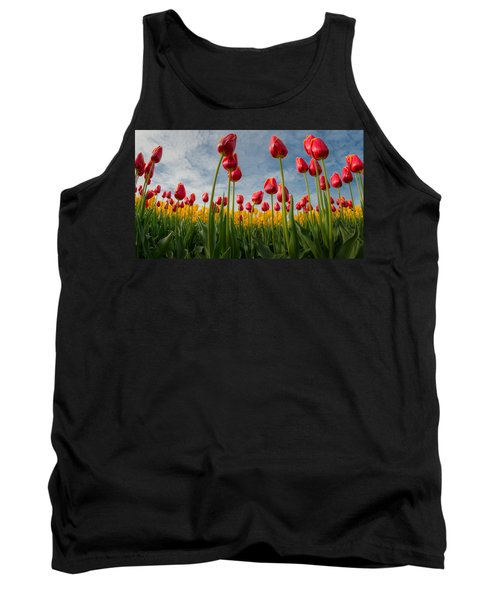 Tank Top featuring the photograph Skagit Valley Spring Joy by Dan Mihai