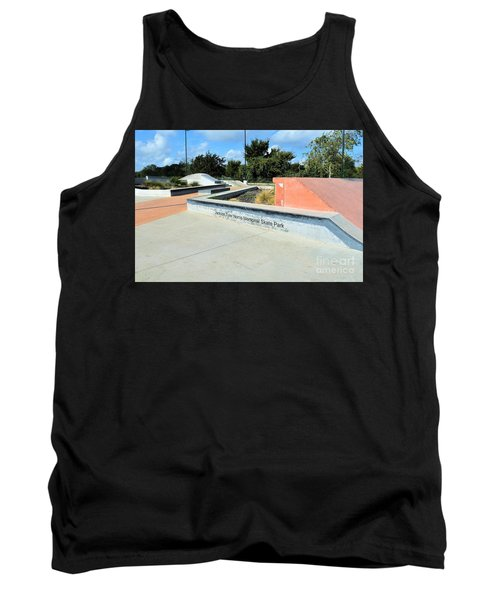 Tank Top featuring the photograph Skate Park by Ray Shrewsberry