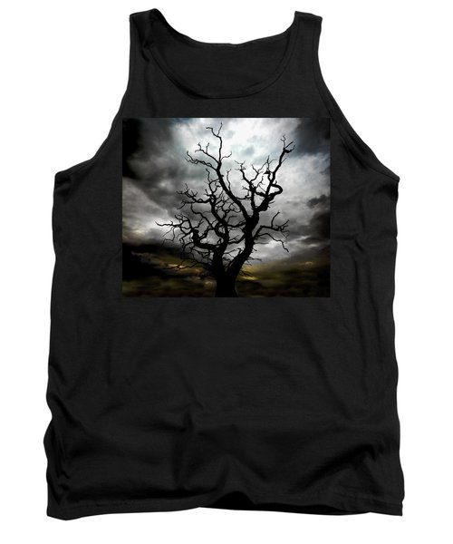 Skeletal Tree Tank Top
