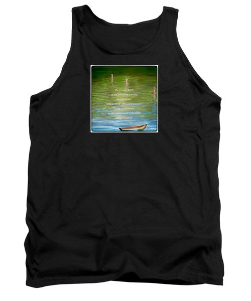 Skiff Boat Quote Tank Top