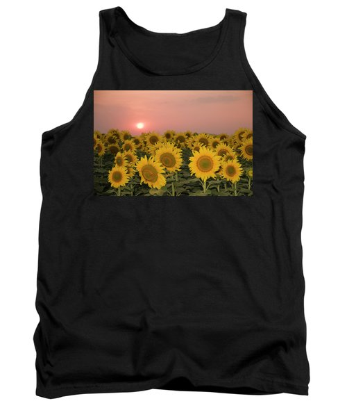 Skn 2179 Sunflower Landscape Tank Top