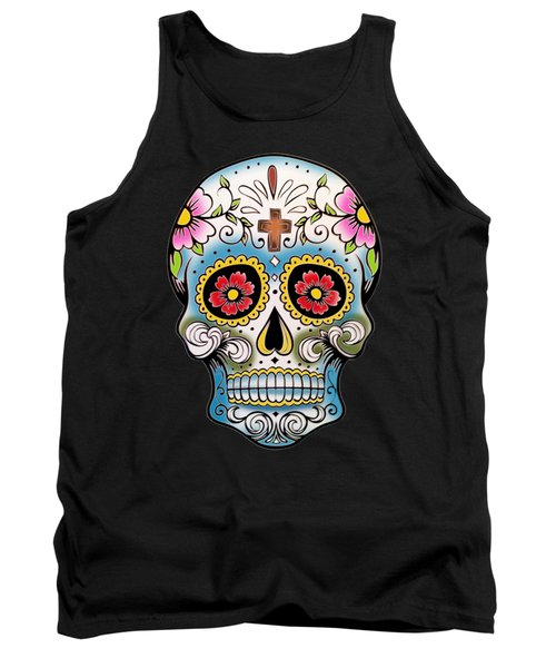 Skull 10 Tank Top by Mark Ashkenazi