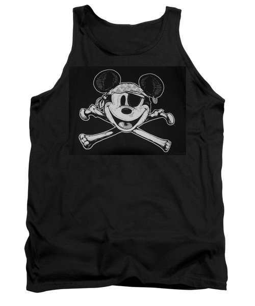 Skull And Bones Mickey  Tank Top
