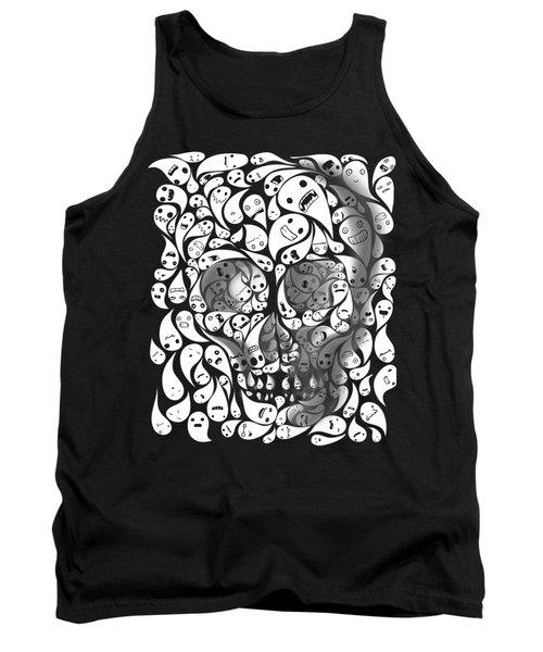 Skull Doodle Tank Top by Sassan Filsoof