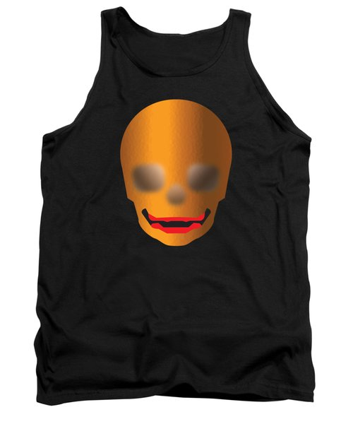 Skull With Lips Tank Top by Stan  Magnan