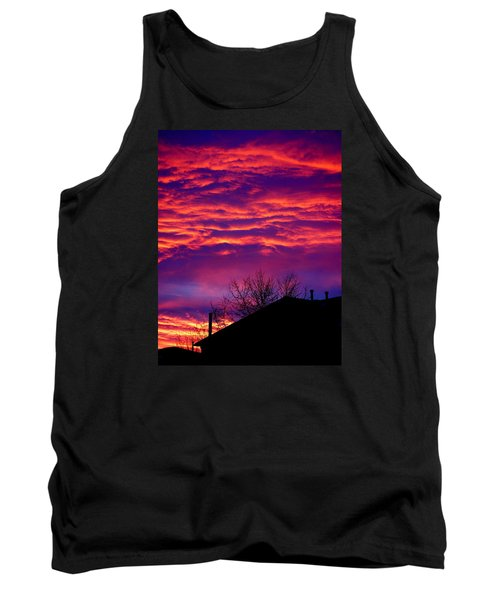 Tank Top featuring the photograph Sky Drama by Valentino Visentini