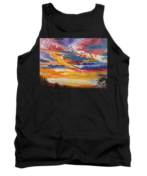 Tank Top featuring the painting   Sky In The Morning.             Sailor Take Warning  by Sigrid Tune