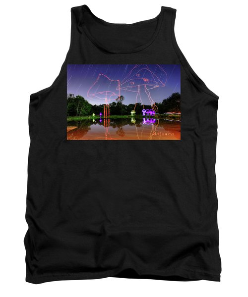 Sky Shrooms Tank Top by Andrew Nourse