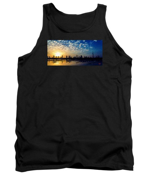 Tank Top featuring the painting Skyline by James Shepherd