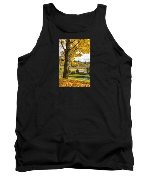 Tank Top featuring the photograph Sleep Hollow Farm Woodstock Vt by Betty Denise