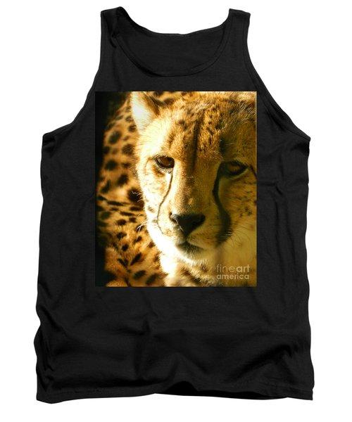 Sleepy Cheetah Cub Tank Top by Emmy Marie Vickers