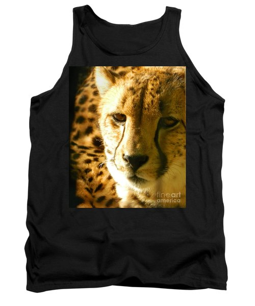Sleepy Cheetah Cub Tank Top