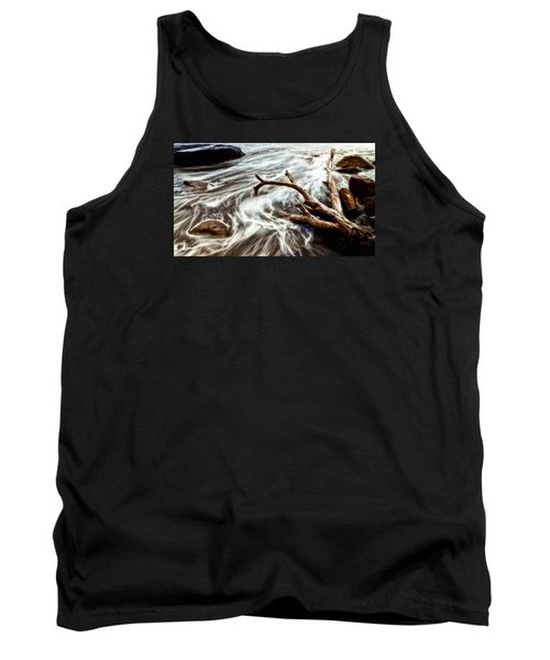 Tank Top featuring the photograph Slow Motion Sea by Cameron Wood