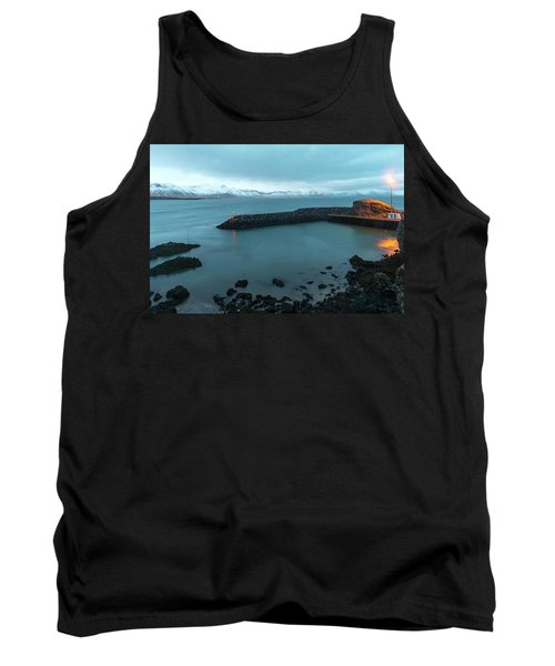 Tank Top featuring the photograph Small Port Near Snaefellsjokull Mountain, Iceland by Dubi Roman