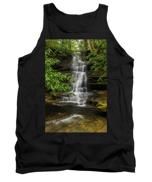 Small Waterfalls In The Forest. Tank Top