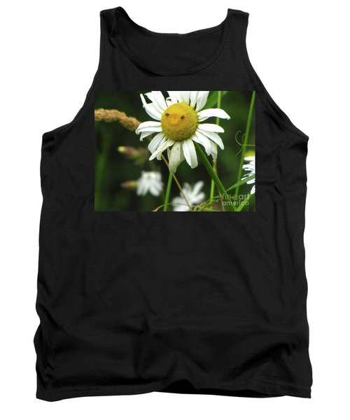 Smiley Face Ox-nose Daisy Tank Top by Sean Griffin