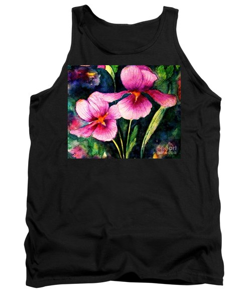 Smiling Iris Faces  Tank Top by Hazel Holland