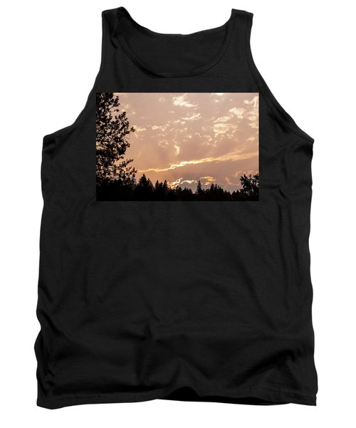 Smokey Skies Sunset Tank Top by Melanie Lankford Photography