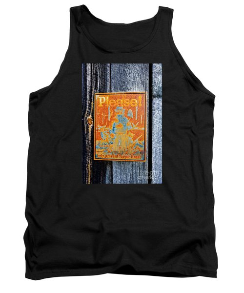 Tank Top featuring the photograph Smokey The Bear by Paul Mashburn