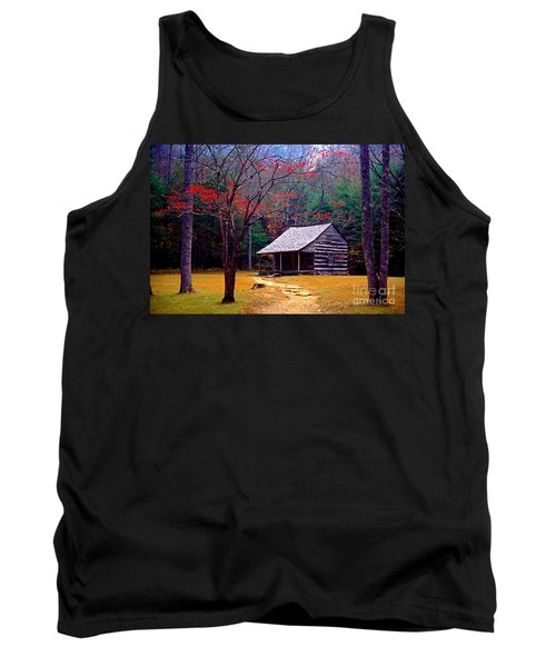 Smoky Mtn. Cabin Tank Top by Paul W Faust -  Impressions of Light