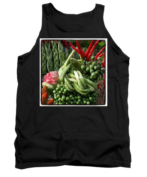 Tank Top featuring the photograph Snake Beans. At The Surin Elephant by Mr Photojimsf