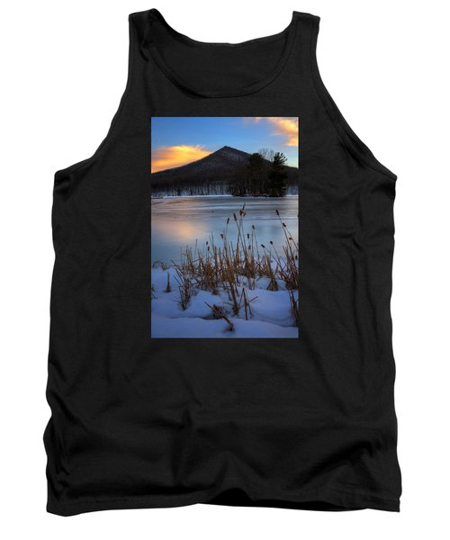 Snow At The Peaks Tank Top by Steve Hurt