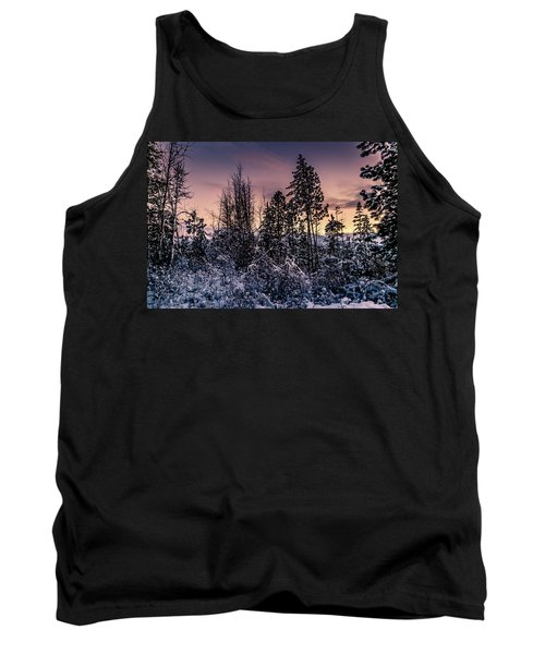 Snow Covered Pine Trees Tank Top