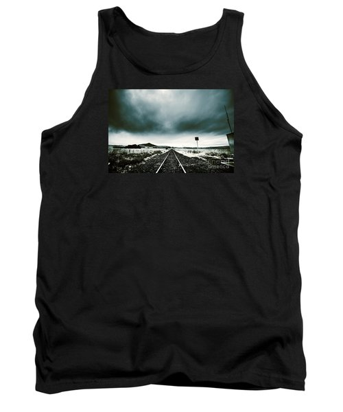 Tank Top featuring the photograph Snow Railway by Jorgo Photography - Wall Art Gallery