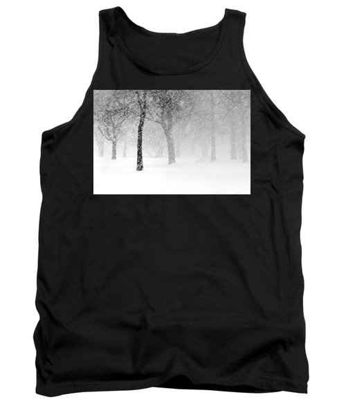 Snow Storm At Starved Rock Tank Top