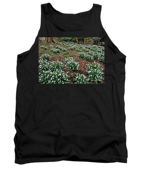 Snowdrops In Spring Woodland Tank Top