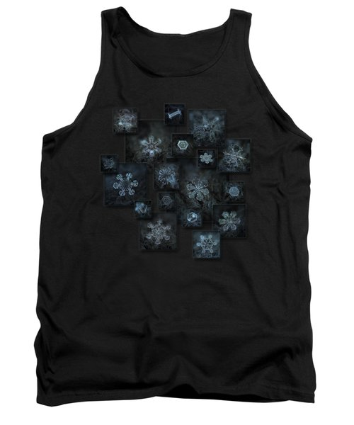 Snowflake Collage - Dark Crystals 2012-2014 Tank Top by Alexey Kljatov