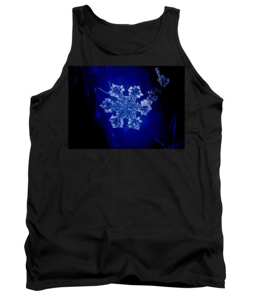 Snowflake On Blue Tank Top