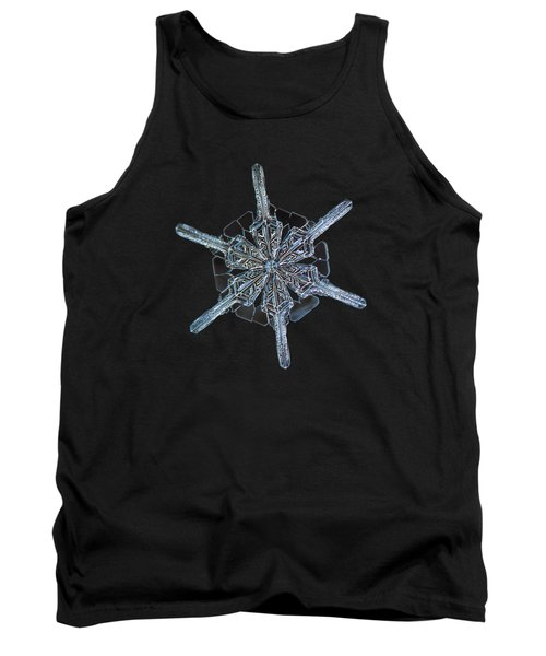 Snowflake Photo - Steering Wheel Tank Top by Alexey Kljatov