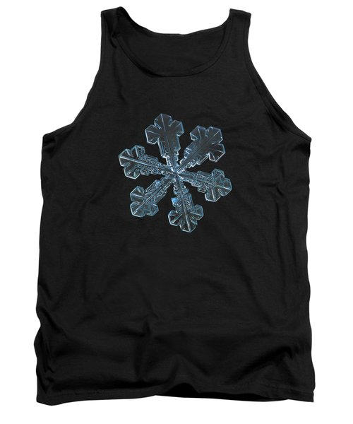 Tank Top featuring the photograph Snowflake Photo - Vega by Alexey Kljatov