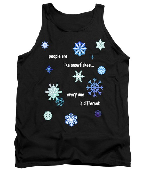 Snowflakes 4 Tank Top by Methune Hively