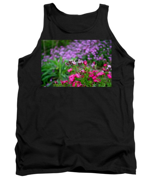 Tank Top featuring the photograph Soapwort And Pinks by Kathryn Meyer