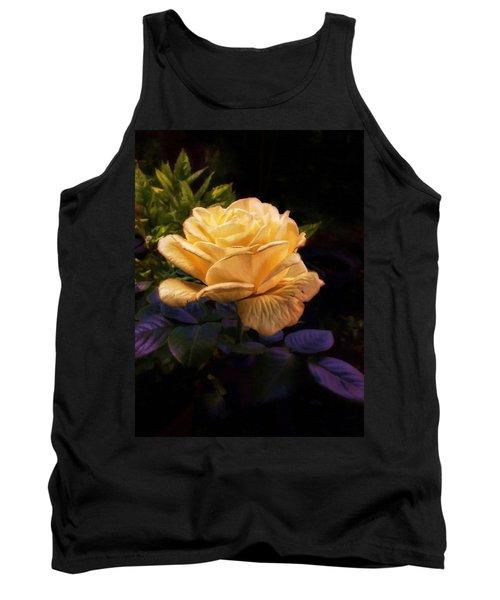 Soft Gold Rose Tank Top