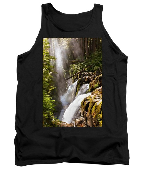 Tank Top featuring the photograph Sol Duc Falls by Adam Romanowicz