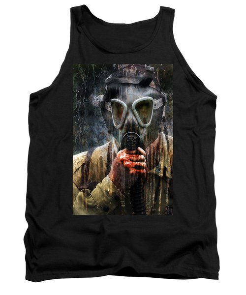Soldier In World War 2 Gas Mask Tank Top