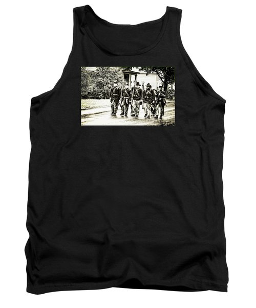 Soldiers Marching In Parade Tank Top by Rena Trepanier