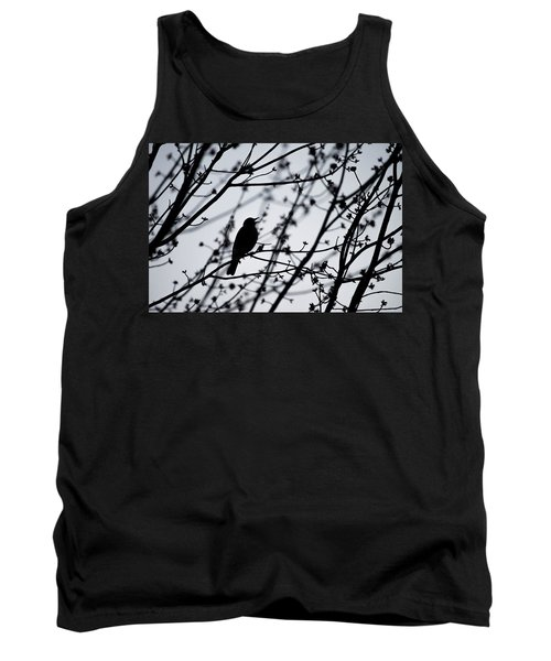 Tank Top featuring the photograph Song Bird Silhouette by Terry DeLuco