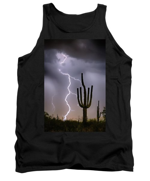 Tank Top featuring the photograph Sonoran Desert Monsoon Storming by James BO Insogna