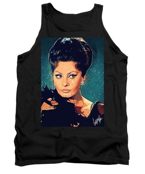 Sophia Loren Tank Top by Taylan Apukovska