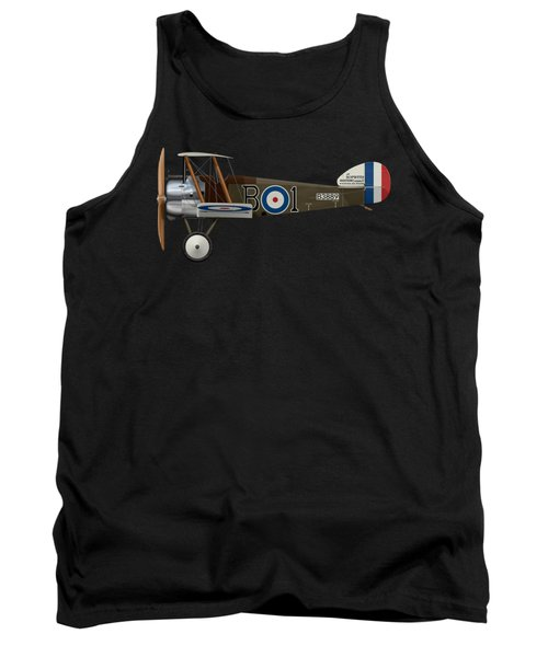 Sopwith Camel - B3889 - Side Profile View Tank Top by Ed Jackson
