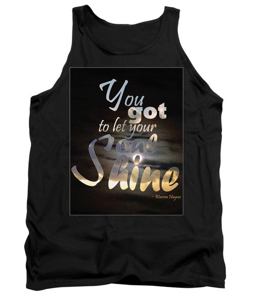 Tank Top featuring the photograph Soul Shine by Thomasina Durkay