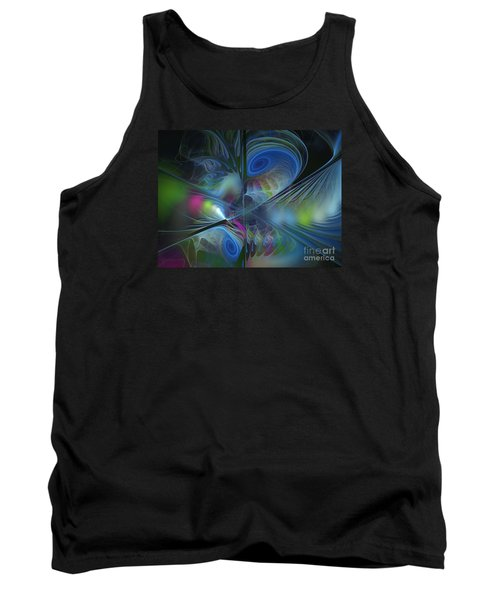 Tank Top featuring the digital art Sound And Smoke by Karin Kuhlmann