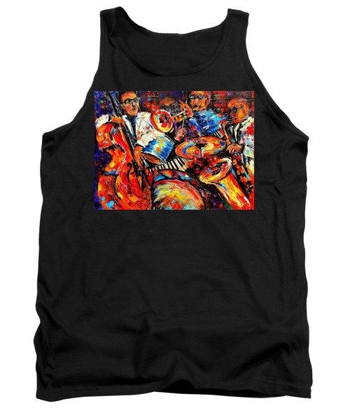 Sounds Of Jazz Tank Top by Helen Kagan