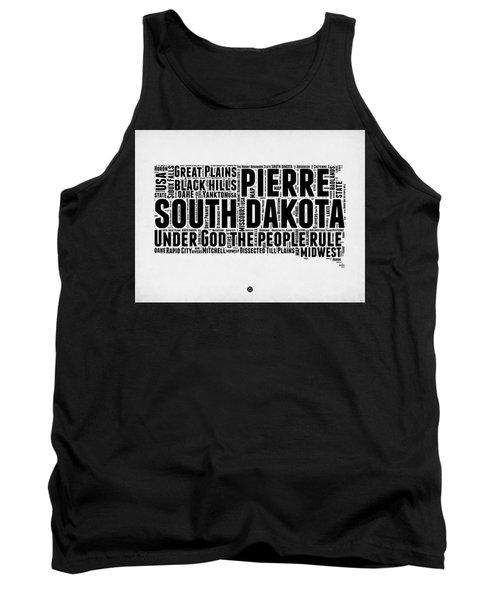 South Dakota Word Cloud 1 Tank Top