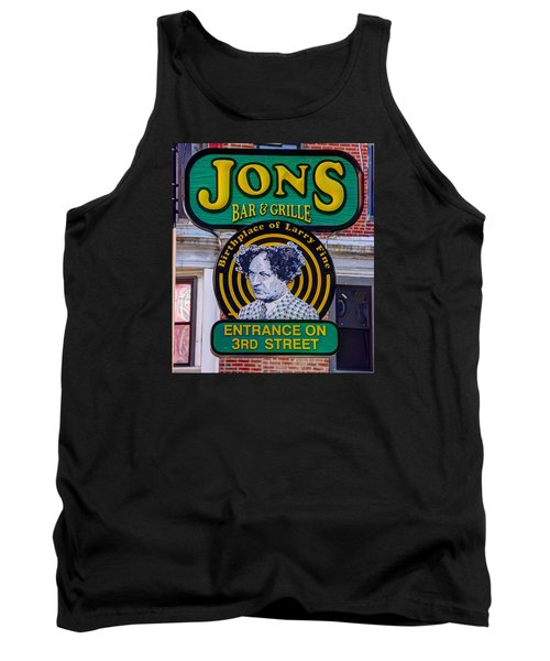 South Philly Skyline - Birthplace Of Larry Fine Near Jon's Bar And Grille-a - Third And South Street Tank Top by Michael Mazaika